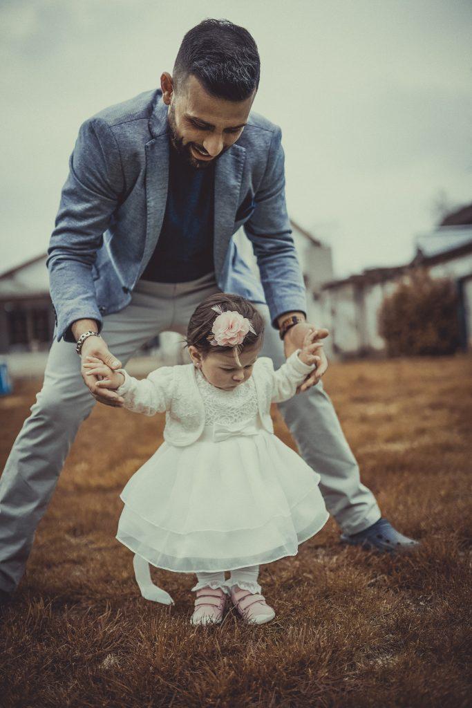 Vater mit Taufkind